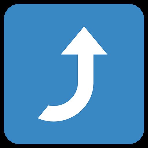 Arrow Pointing Rightwards Then Curving Upwards Emoji