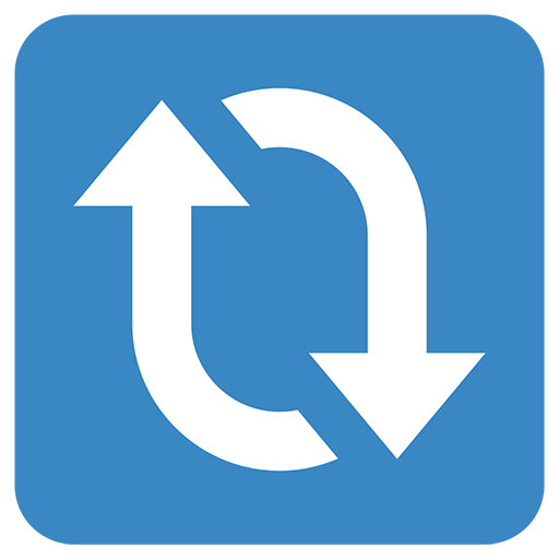 Clockwise Downwards And Upwards Open Circle Arrows Emoji