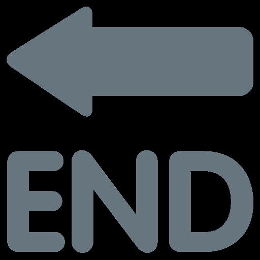 End With Leftwards Arrow Above Emoji