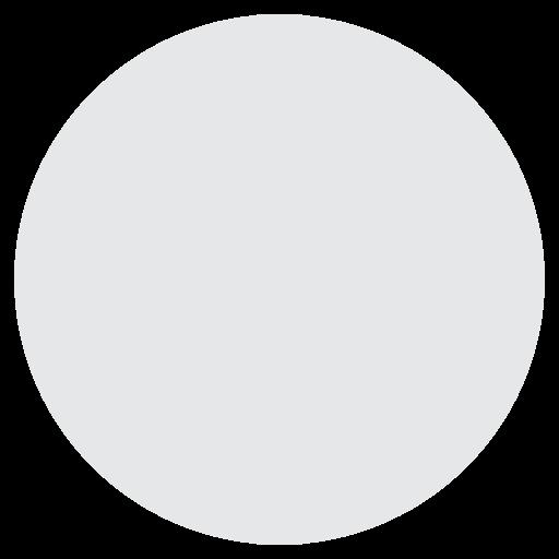 Medium White Circle Emoji