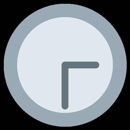 Clock Face Three-Thirty Emoji
