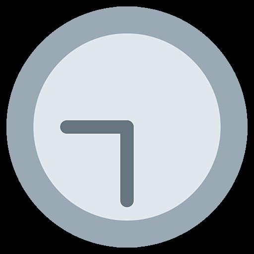 Clock Face Nine-Thirty Emoji