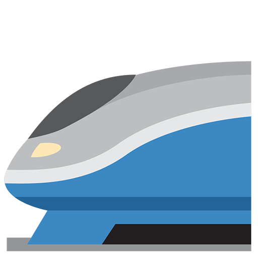 High-speed Train Emoji