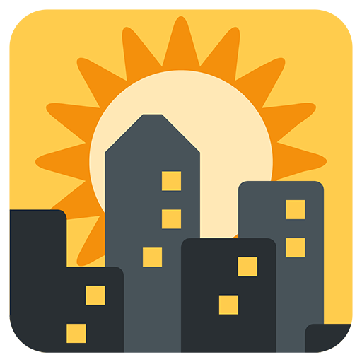 Sunset Over Buildings Emoji